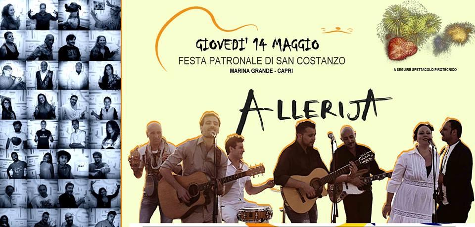 """San Costanzo 2015:  Concerto degli """"Alleria"""" Fuochi pirotecnici e  Spettacoli musicali"""