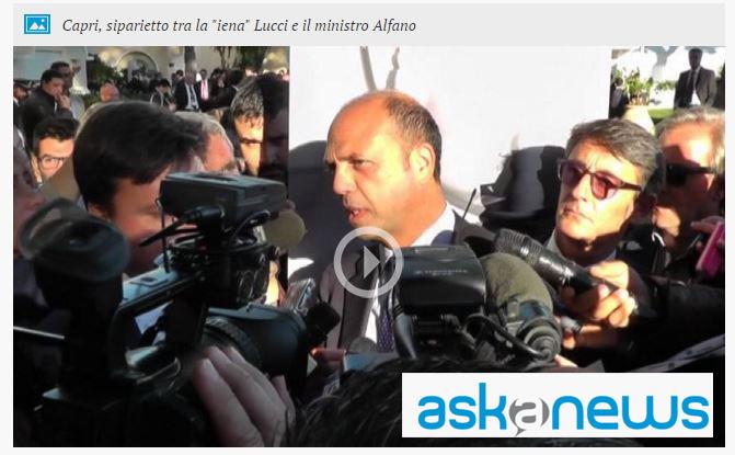 Speciale giovani industriali a Capri:  Lucci delle Iene e il siparietto con il ministro Alfano ( VIDEO)