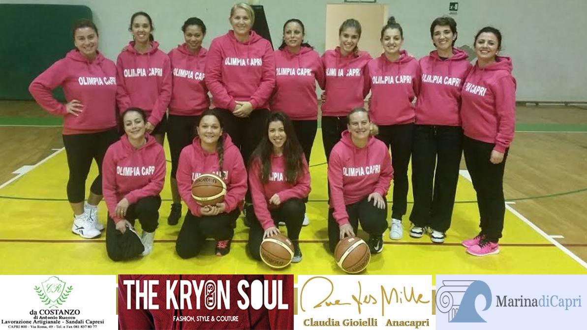 Basket a Capri : Esordio in casa della prima squadra  Femminile dell' Olimpia Capri