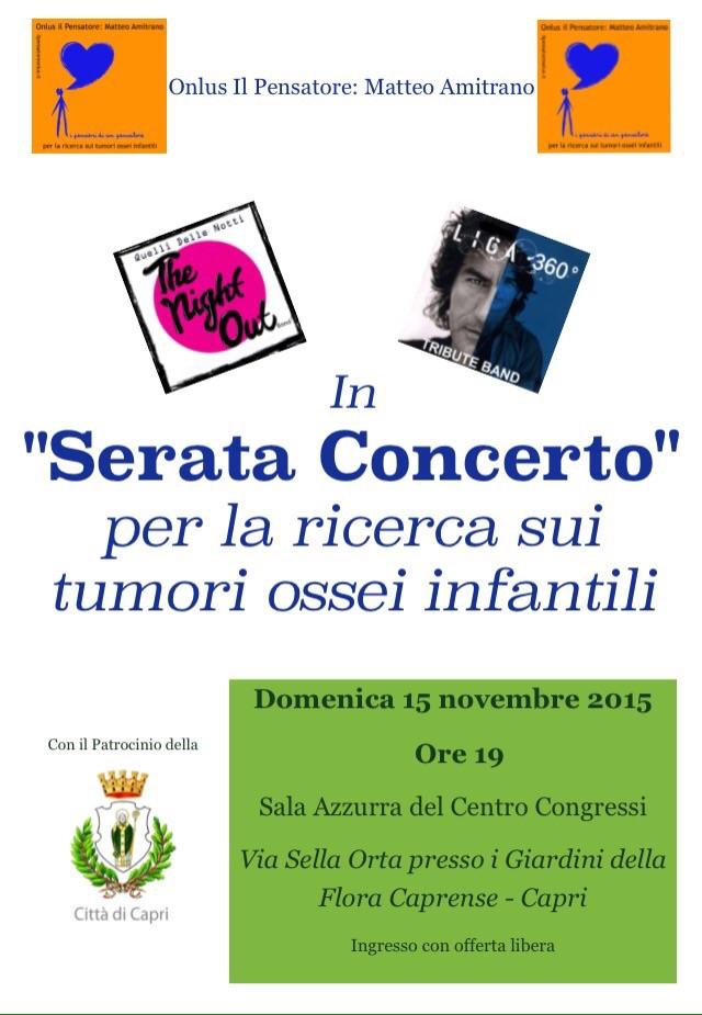 """""""Serata Concerto"""" a Capri per la ricerca sui Tumori ossei infantili"""