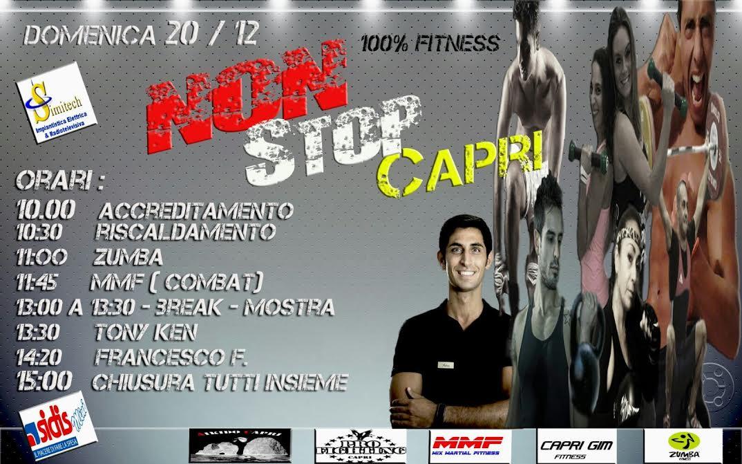 """""""Non Stop Capri"""" Una Domenica di Fitness alla Palestra  Ippolito Nievo"""
