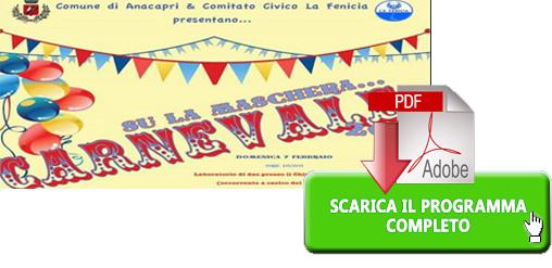 """""""Su La Maschera.. Carnevale """" Scarica il Programma Completo di Anacapri"""