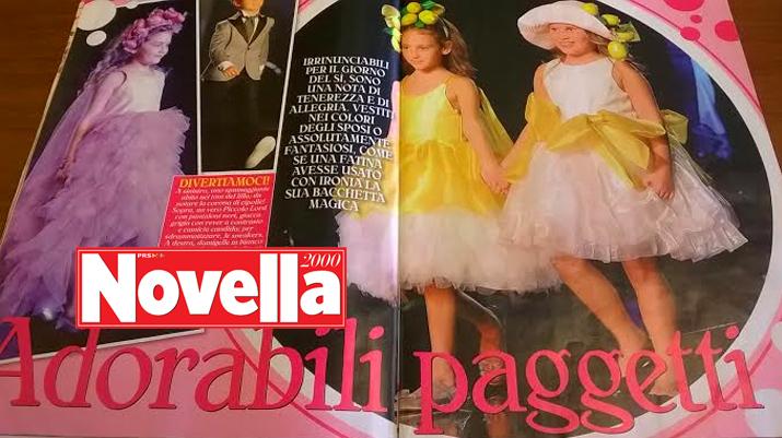Piccole Modelle amiche di Capri sfilano per Novella2000