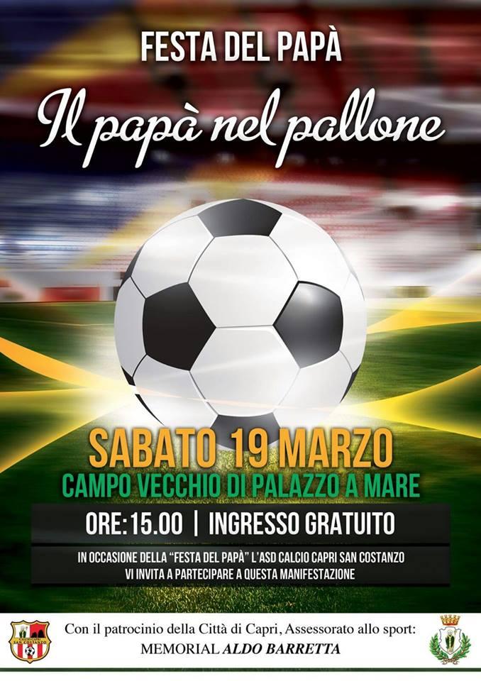 """""""Il Papà nel pallone"""" la Festa del Papà al Campo Vecchio di Palazzo a Mare"""