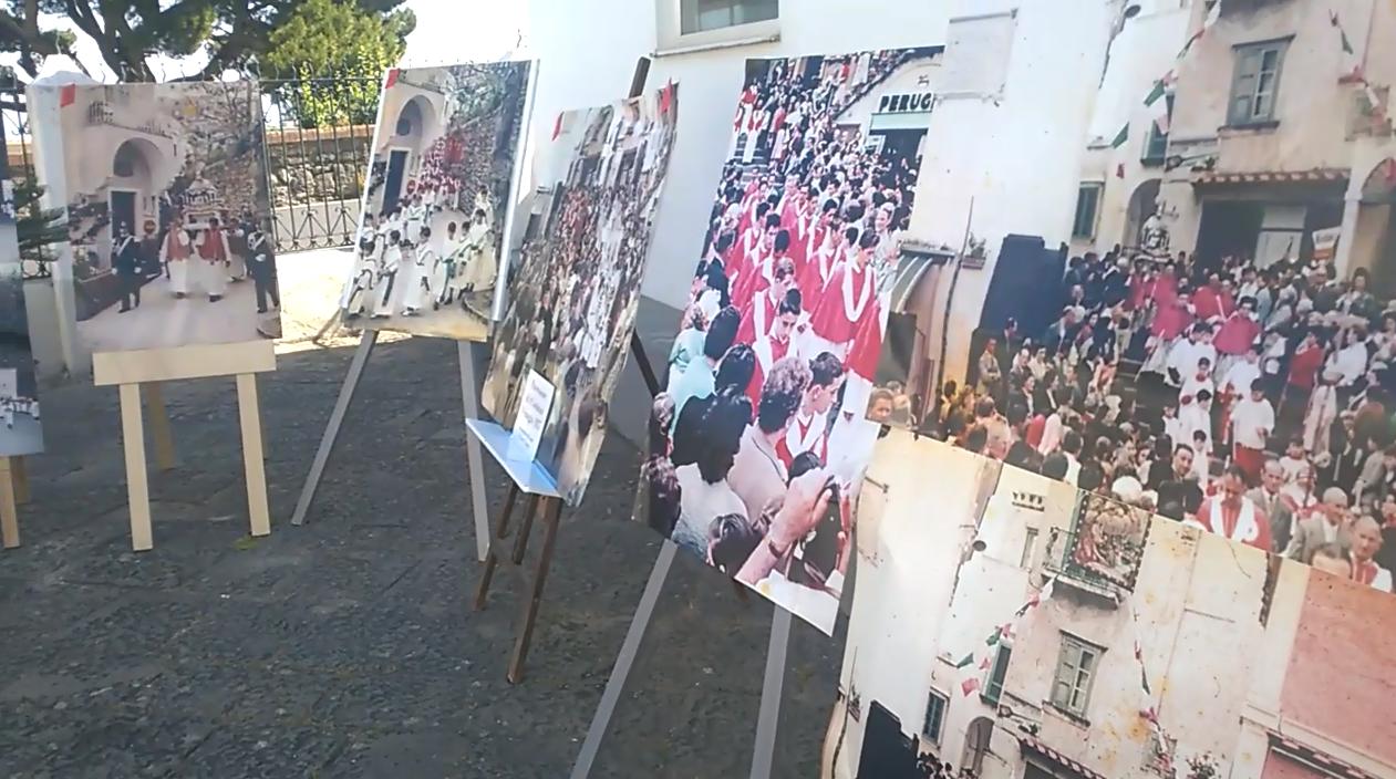 Capri: La Processione di San Costanzo del 1957 ( Mostra Fotografica Carlo D'angiola ) VIDEO