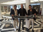 """Capri: Eros Ramazzotti  e la foto """"Portafortuna"""" con i Tifosi della Juventus"""