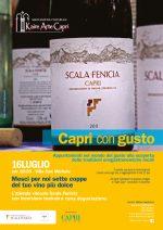 """Capri con Gusto  """"Mesci per noi sette coppe del tuo vino migliore""""  l'Azienda Vinicola Scala Fenicia con incursioni teatrali"""