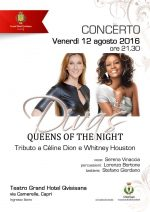 """Divas Queens of the Night"" a Capri il Concerto tributo a Cèlin Dion e Whitney Houston"