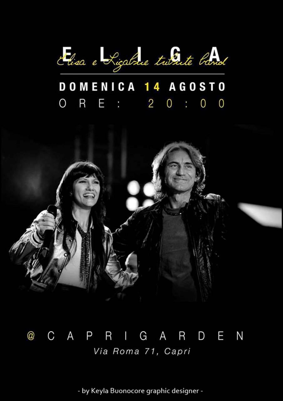Capri: Tornano gli Eliga nel pre-serata al Capri Garden