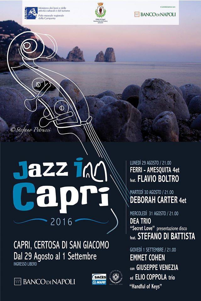 Jazz inn Capri 2016: Il Programma completo dell'evento musicale dell' estate caprese