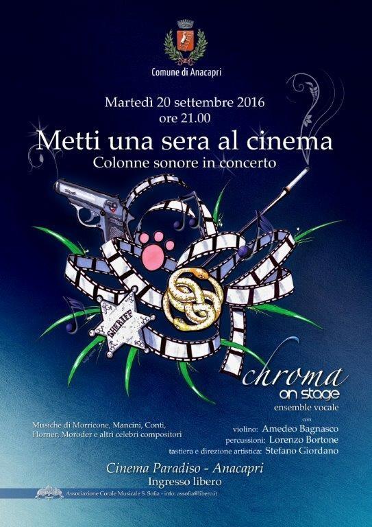 """""""Metti una sera al cinema"""" Colonne Sonore in Concerto al Cinema Paradiso di Anacapri"""