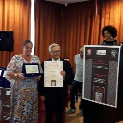 """V Edizione del Premio Alda Merini di Poesia, Attestato e Targa per la poesia """"Profumo d'Aurora"""" di Annalena Cimino"""