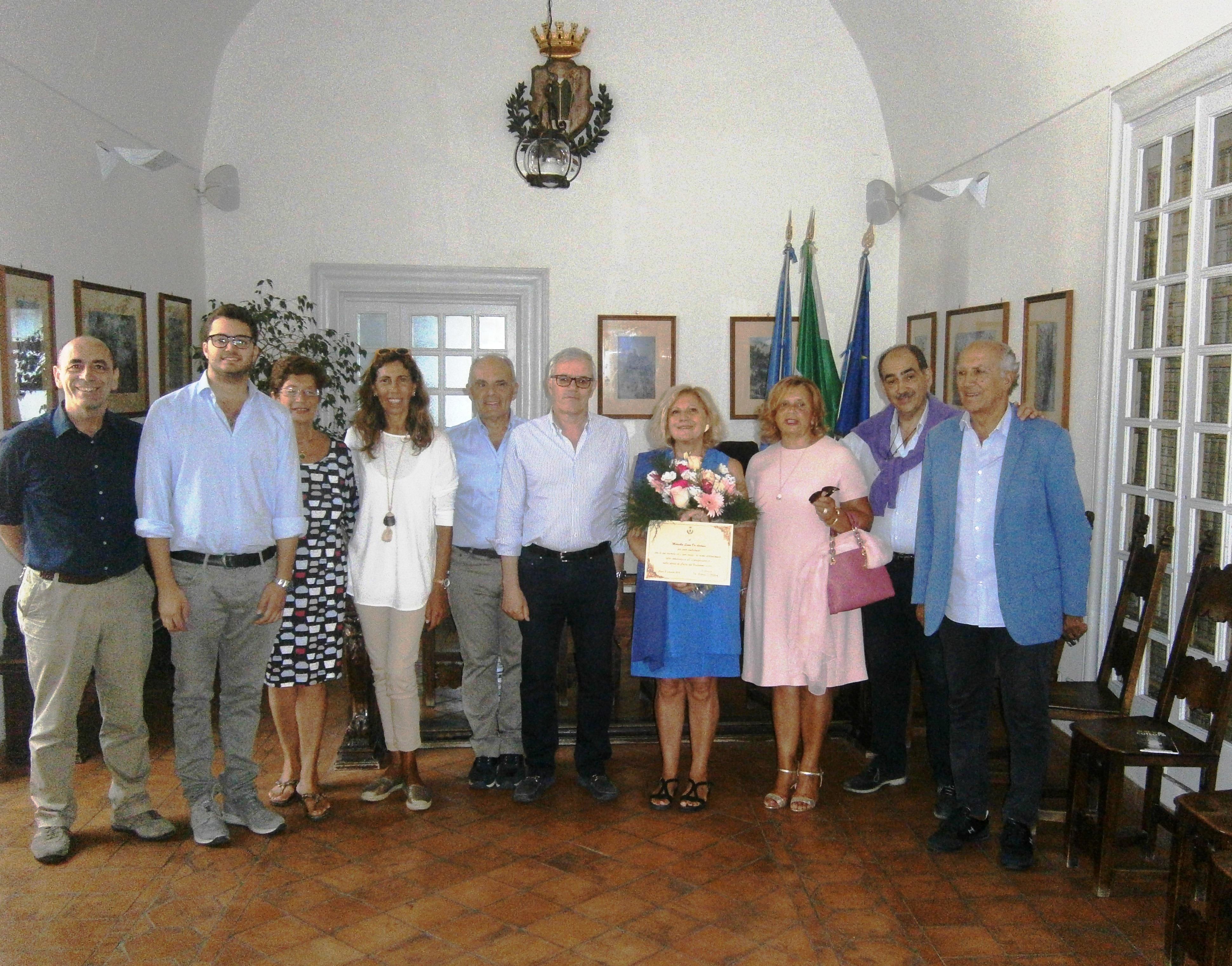 Riconoscimento speciale al Comune di Capri per la scrittrice Marcella Leone De Andreis (FOTO)