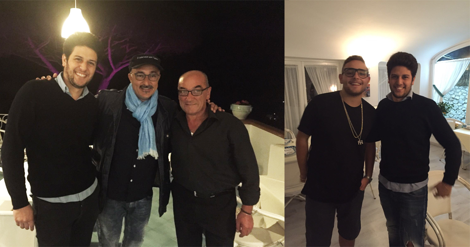 Vips a Capri: Rocco Hunt e Paolo Caiazzo al Ristorante La Palette dopo lo spettacolo della Piedigrotta