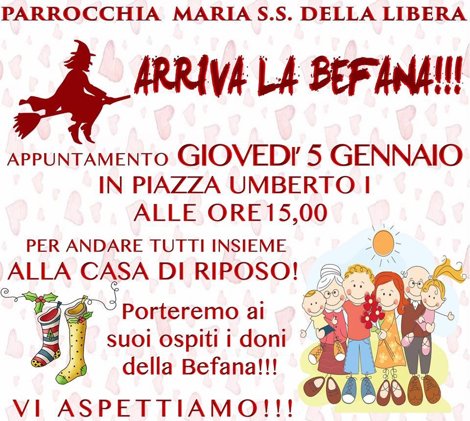 """""""Arriva la Befana alla Casa di Riposo di Capri"""" l'iniziativa della Parrocchia Maria S.s. della Libera"""