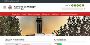E' online il nuovo sito web istituzionale del Comune di Anacapri
