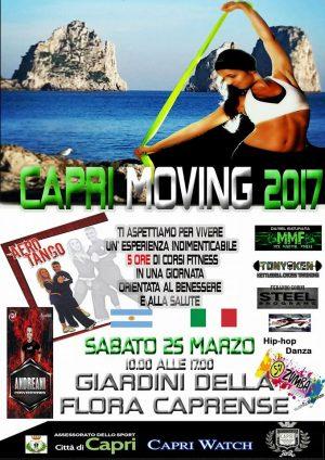 Capri Moving 2017, la Giornata del Fitness ai Giardini della Flora Caprense