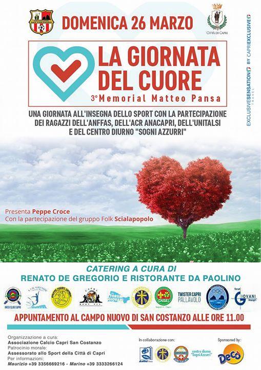 Capri: La Giornata del Cuore del 3° Memorial Matteo Pansa