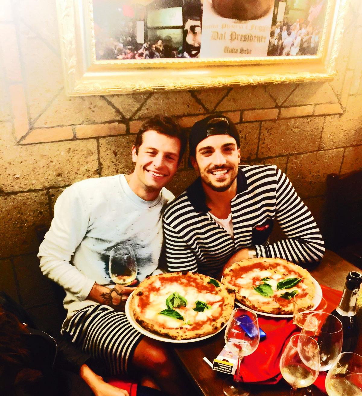 """Capri. Il Fashion Blogger Mariano di Vaio e lo Youtubber iconize Marco Ferrero """"Dal Presidente"""""""