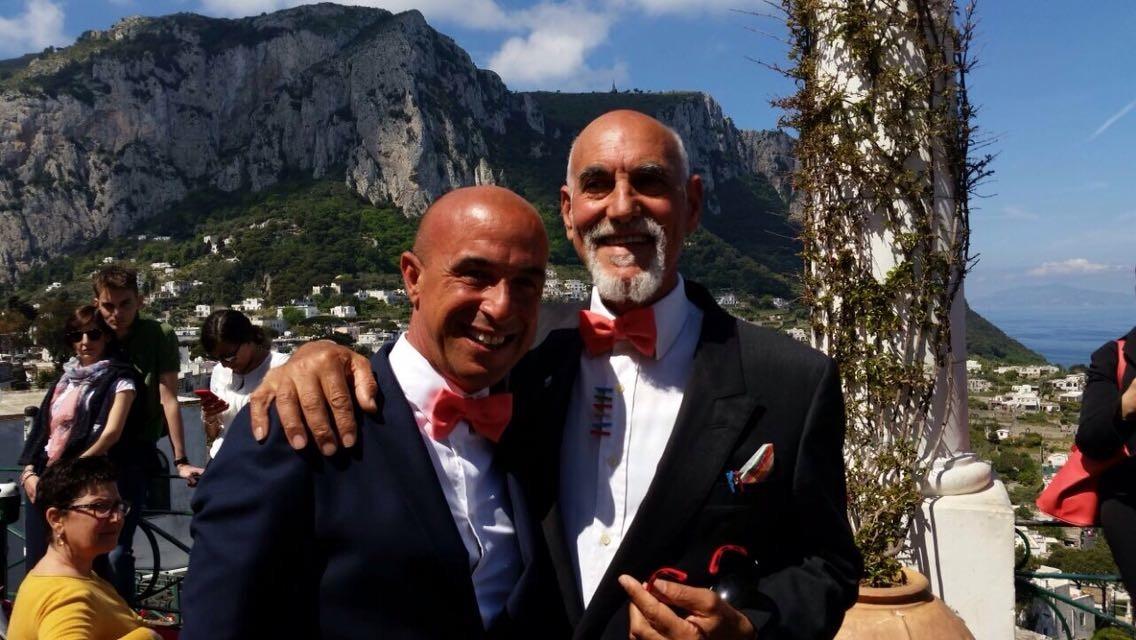 Capri. Seconda unione civile tra persone dello stesso sesso. Auguri a Giulio Lorubbio e Gaspare Marchese