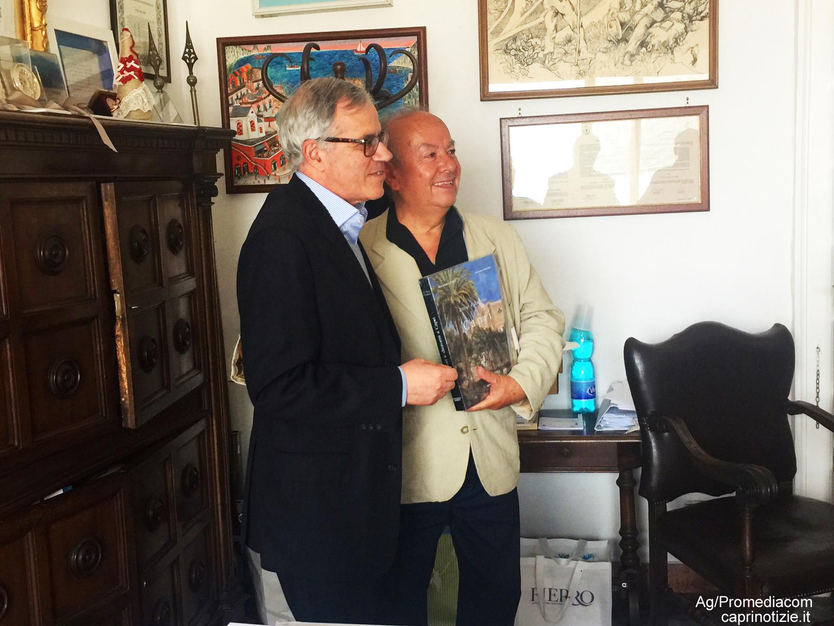 Capri. Grande accoglienza per la visita del nipote di Pablo Neruda, l'avv. Rodolfo Reyes (FOTO E VIDEO)
