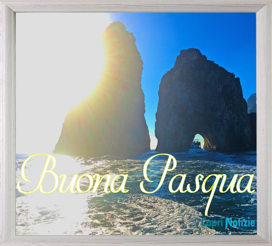 """Da Capri i tradizionali """"Auguri di Pasqua"""" nella cartolina di Caprinotizie da scaricare Gratis"""