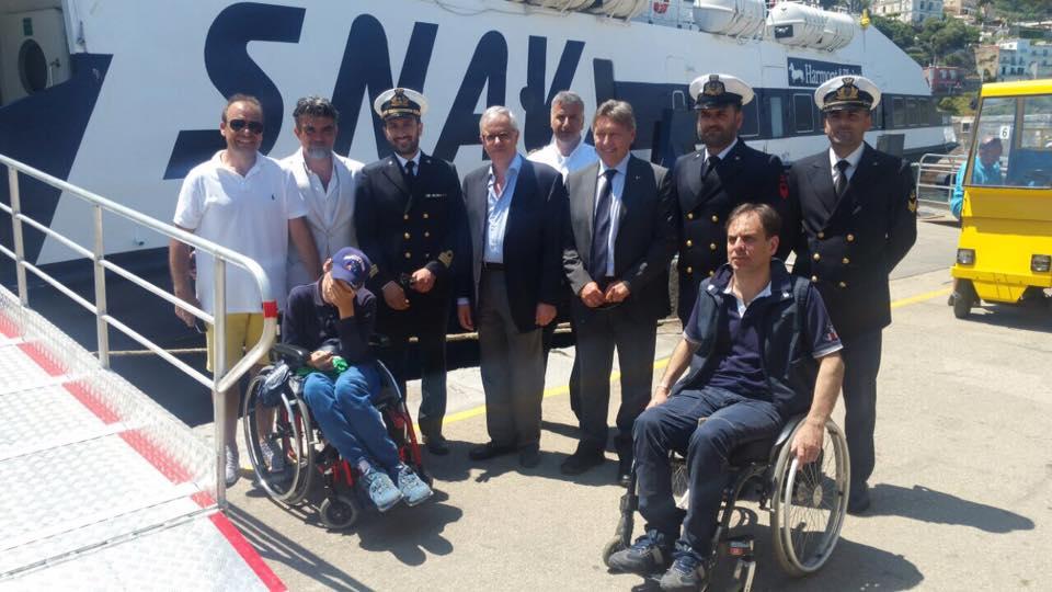 Capri. Inaugurata la nuova passerella di accesso agli aliscafi per i portatori di disabilità