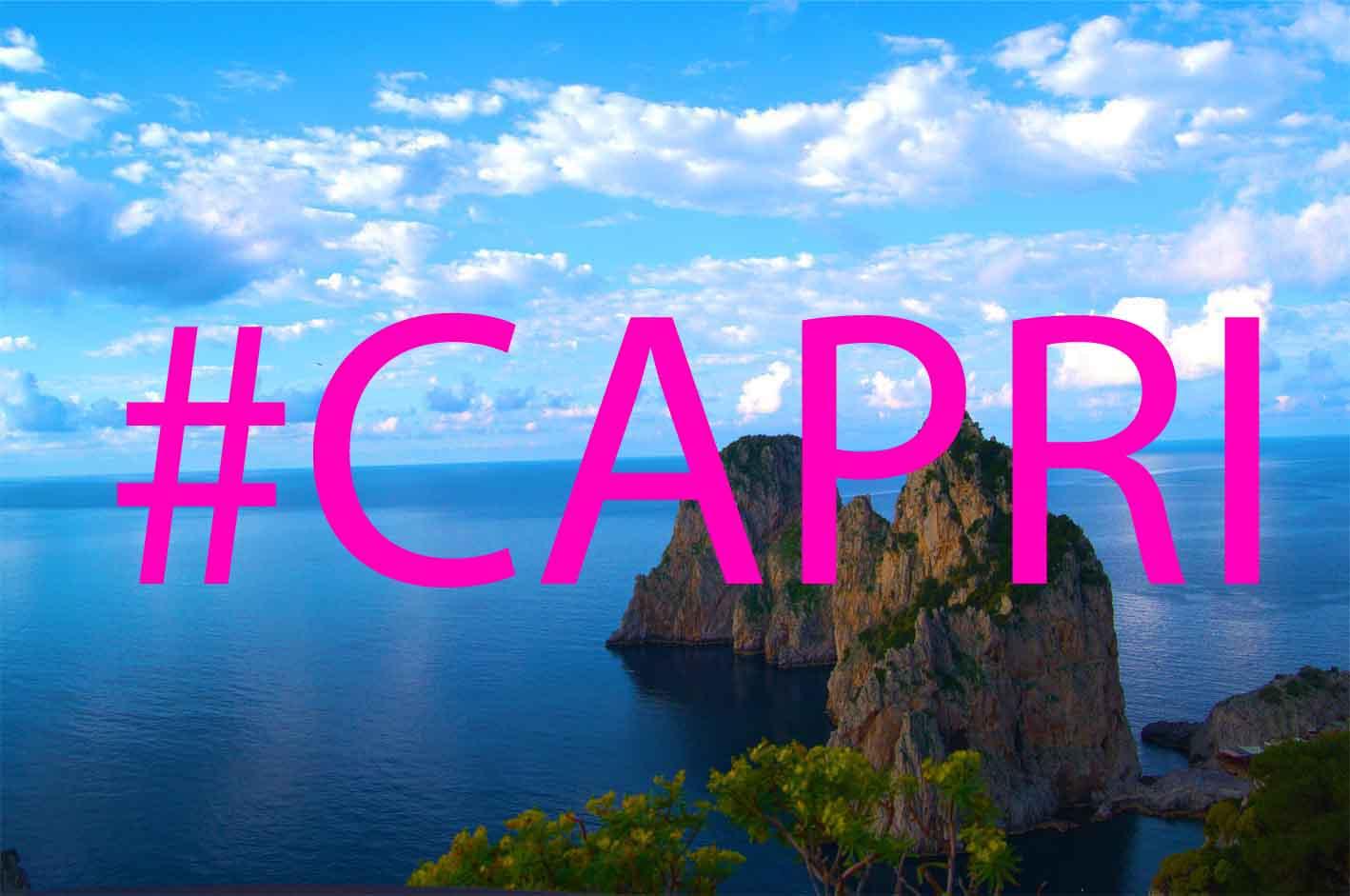L'isola dei Faraglioni regina di Instagram, l'hastag #capri raggiunge 1,4milioni di post