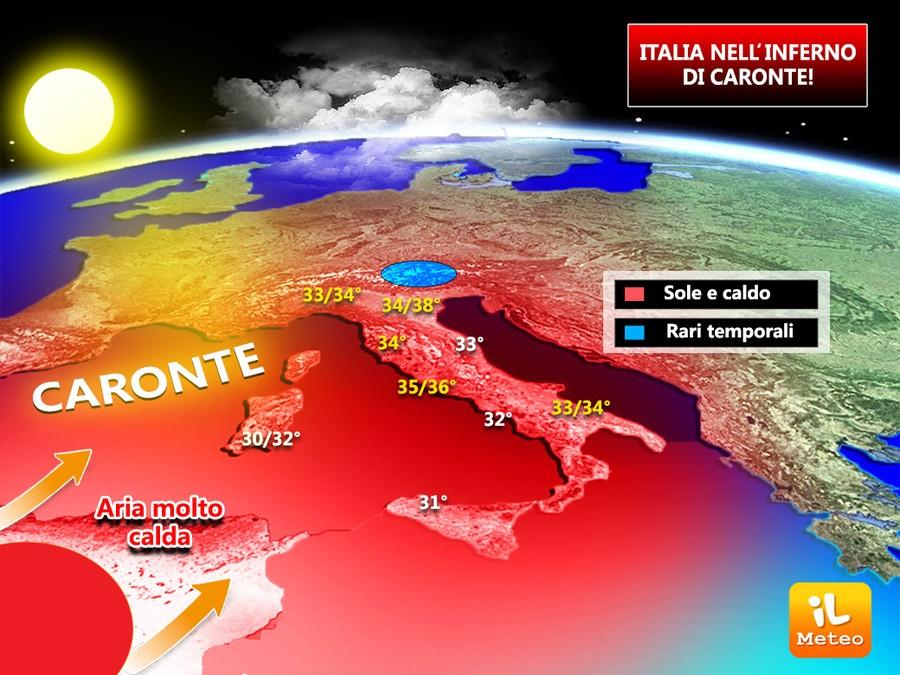 Capri. Arriva Caronte, in arrivo ondata di Caldo con picchi di temperature dai 32 fino ai 35 Gradi