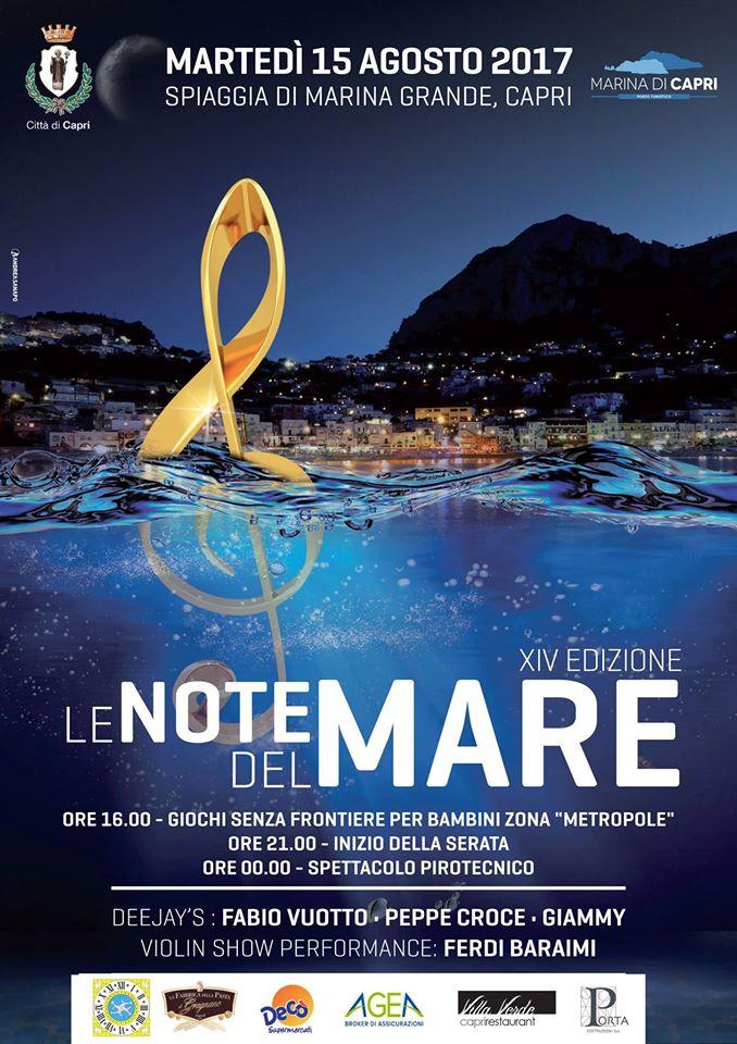 """Capri. Ritorna """" Le note del Mare"""" il tradizionale Ferragosto sulla spiaggia di Marina Grande"""