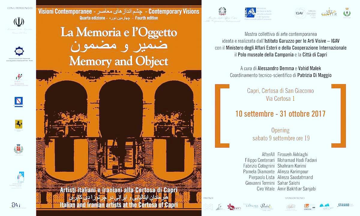A Capri le opere di artisti italiani ed iraniani insieme, nel convento a picco sui Faraglioni (Programma)