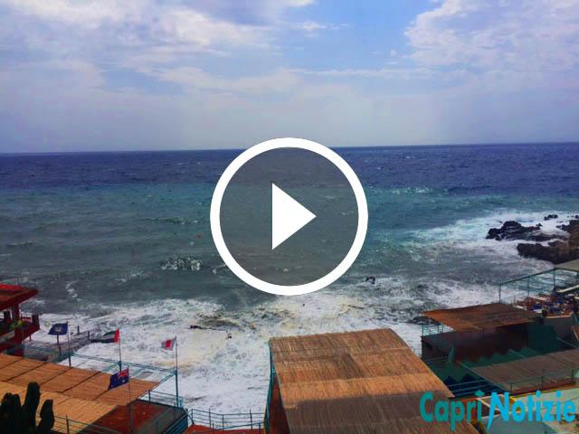 Capri. Domenica di Settembre con Venti forti da Sud, (VIDEO)