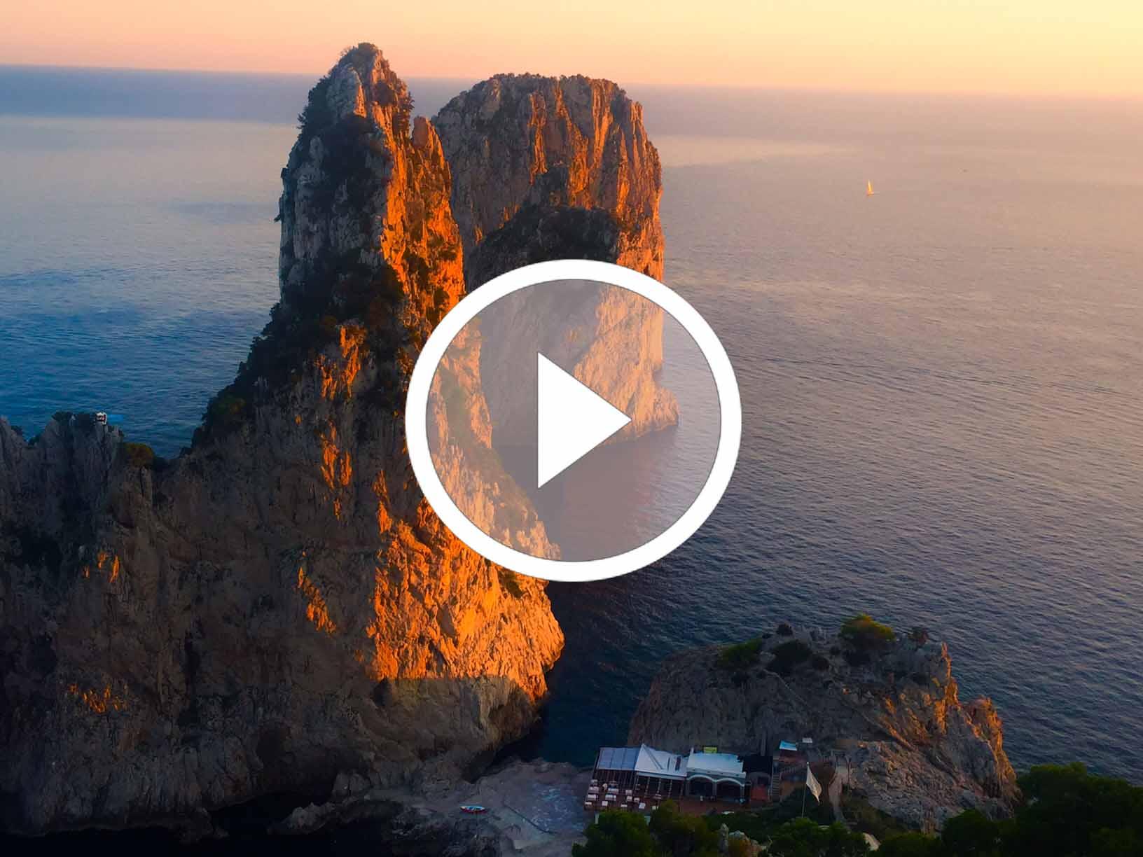 La Giornata Mondiale della Terra a Capri. 5 Video Spettacolari dall'isola dei Faraglioni.