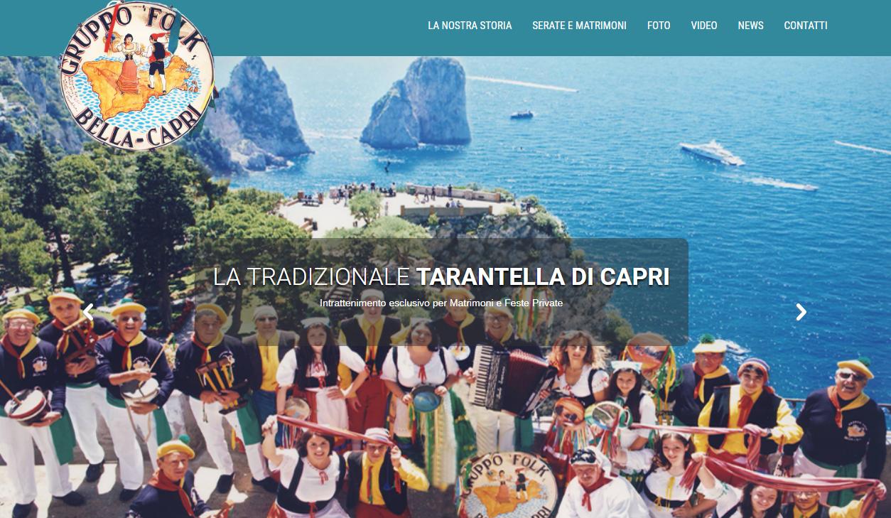 Il gruppo folkloristico Bella Capri inaugura il nuovo portale web creato dall'Agenzia Promediacom e Publicapri