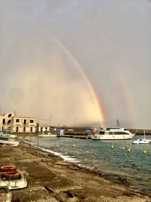 maltempo meteo storm rainbow capri