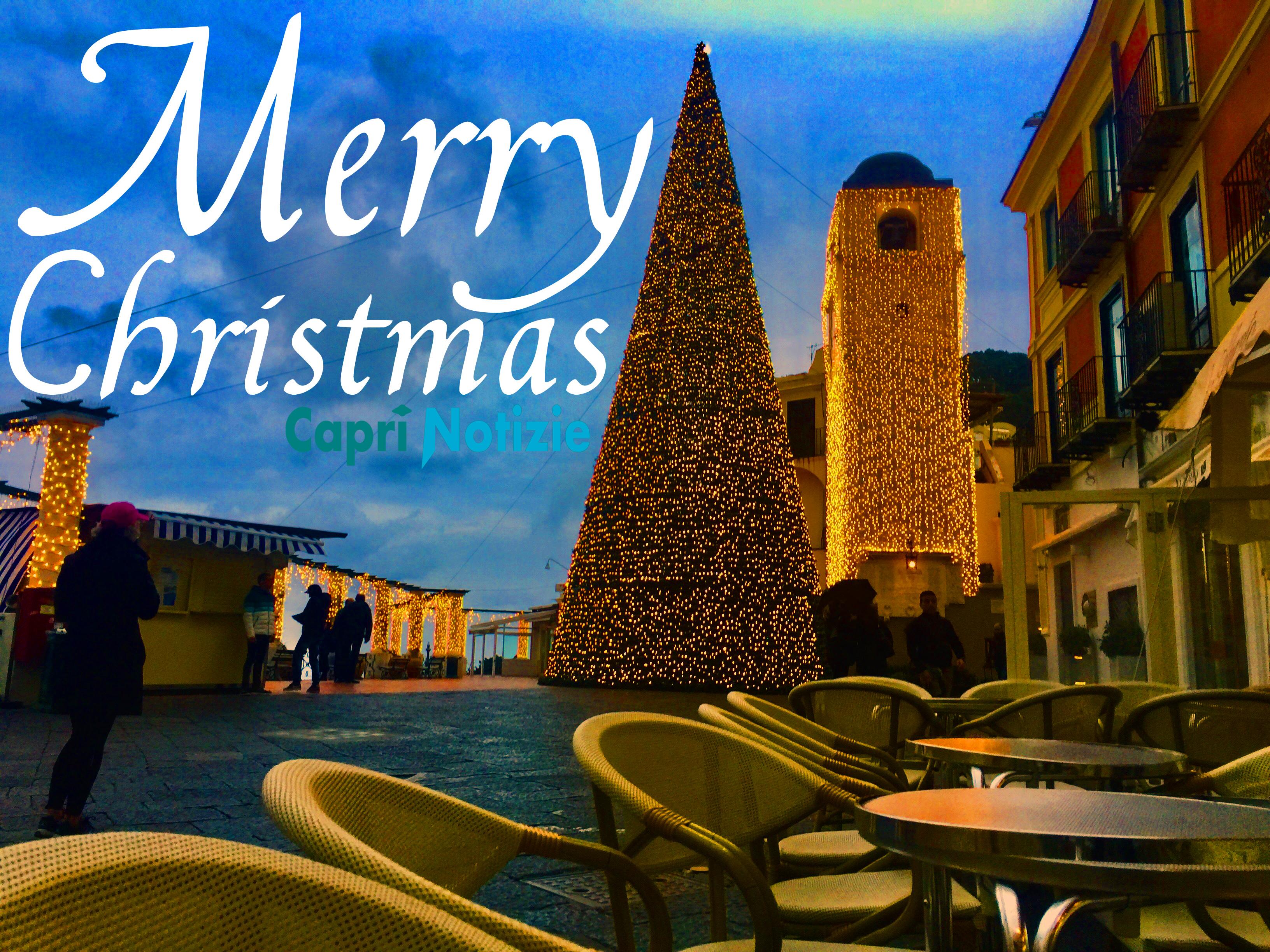 Auguri Di Natale Da Condividere.Auguri Di Buon Natale Da Capri La Tradizionale Cartolina Di