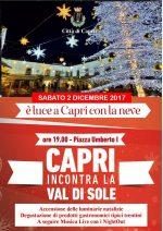 Capri incontra la Val di Sole, sabato 2 dicembre il tradizionale Gemellaggio e l'accensione delle Luminarie