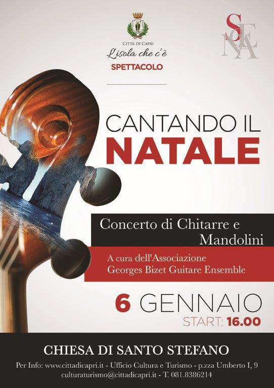 """""""Cantando il Natale"""" a Capri il Concerto dell' Ass. G. Bizet nella Ex. Cattedrale di Santo Stefano"""