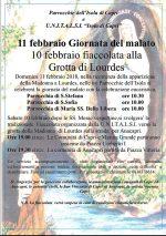 Capri.  La tradizionale Fiaccolata alla Grotta di Lourdes in occasione della Giornata del Malato