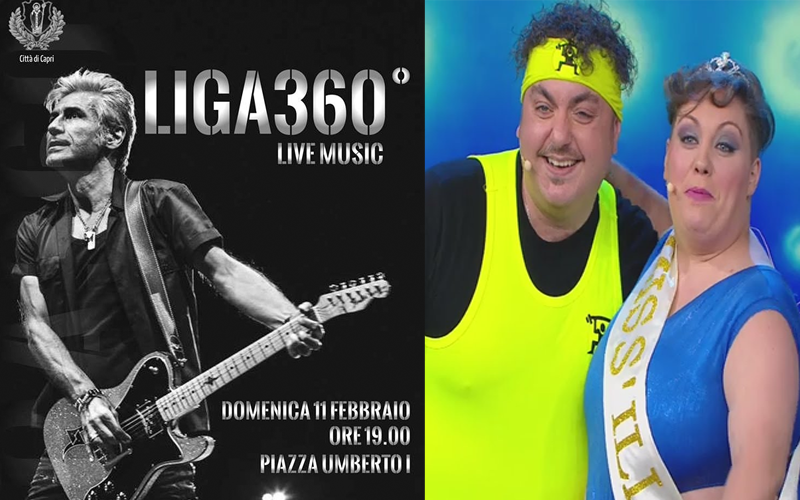 Capri. Da Made in Sud: Miss Illude e Peppe Step e  Liga360 in Concerto Live