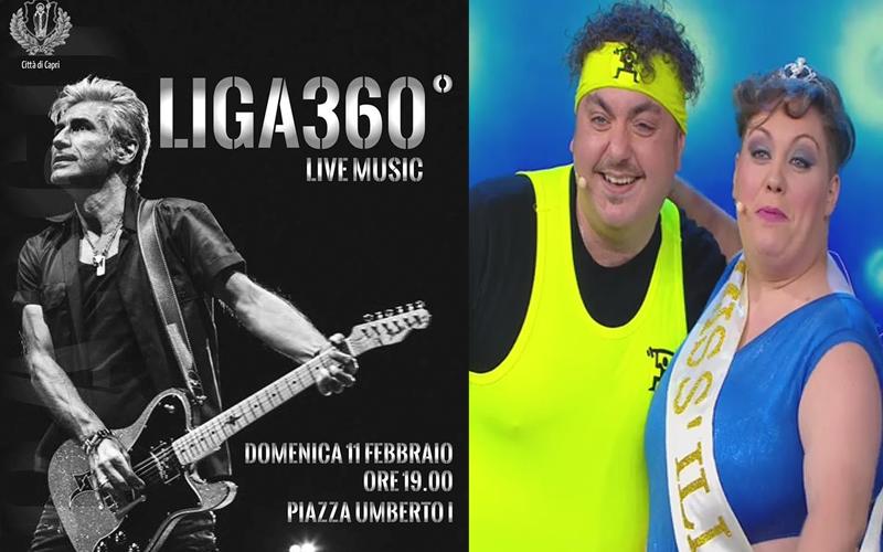 Capri. Da Made in Sud: Miss Illude e Peppe Step e  Liga360 in Concerto Live