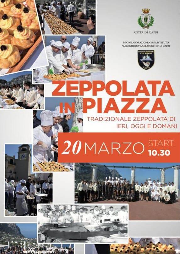 Capri. La  Tradizionale Zeppolata di San Giuseppe in Piazza rinviata a Martedì 20 Marzo