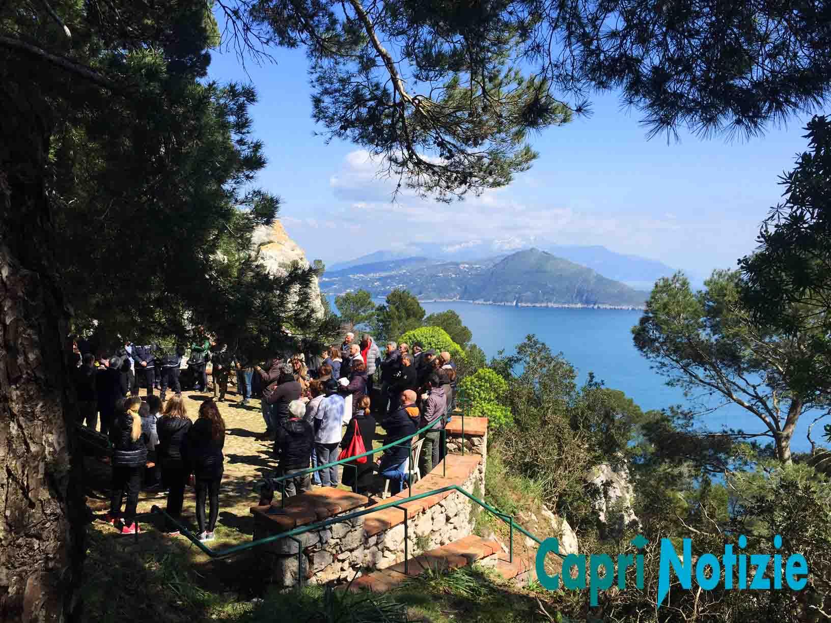 Capri. Inaugurazione del Parco Astarita e il Sentiero del Lauro dopo i Lavori (FOTO E VIDEO)