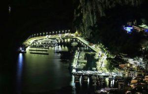 Capri.  Nuovo impianto di illuminazione led al Porto Turistico