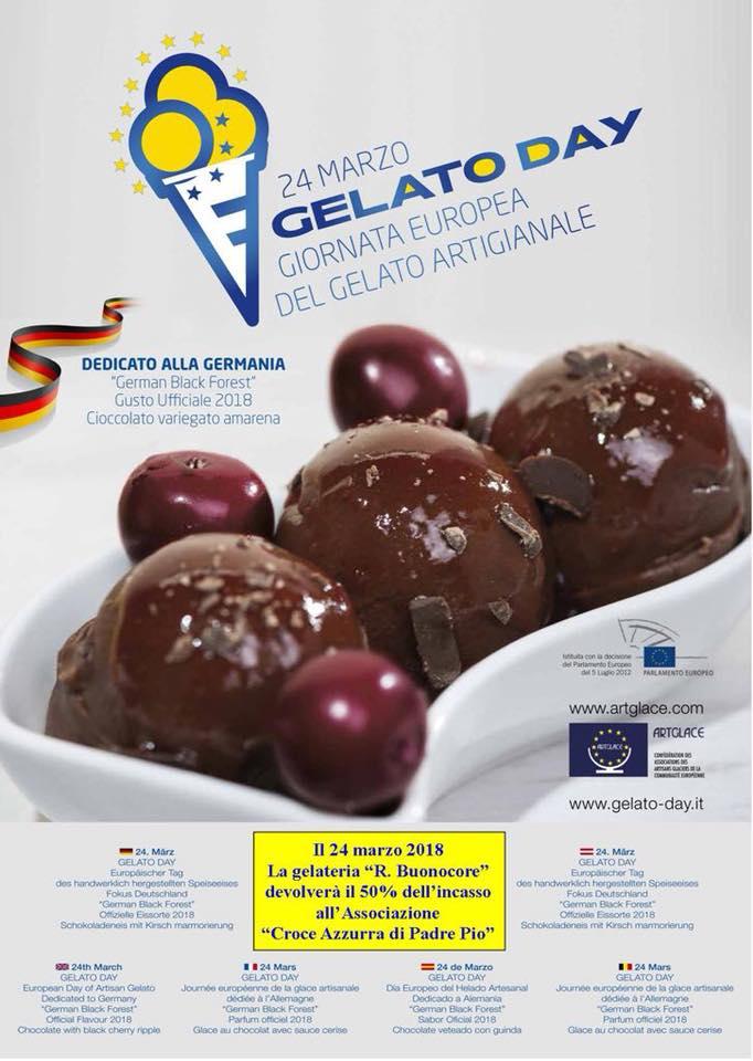 Capri. Giornata Europea del gelato Artigianale: da Buonocore il 50% dell'incasso alla Ass.. Croce Azzurra di Padre Pio