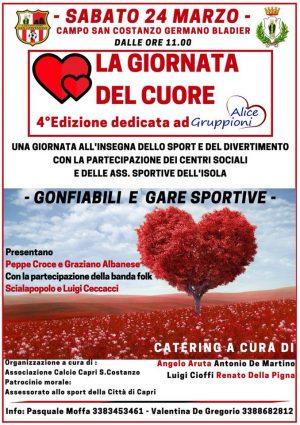 Capri. La Giornata del Cuore, sport e divertimento al Campo San Costanzo – Germano Bladier