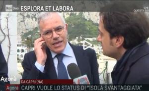 "In diretta da Capri la trasmissione Agorà di Rai 3 "" Raccolta firme per ""Insularità nella costituzione"" VIDEO"