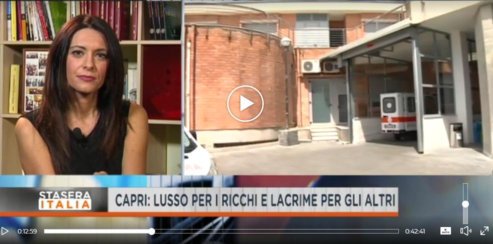 """Capri in Tv: Il Servizio con le Interviste di Rete 4 """" Stasera Italia"""": Lusso per i Ricchi e Lacrime.. (VIDEO)"""