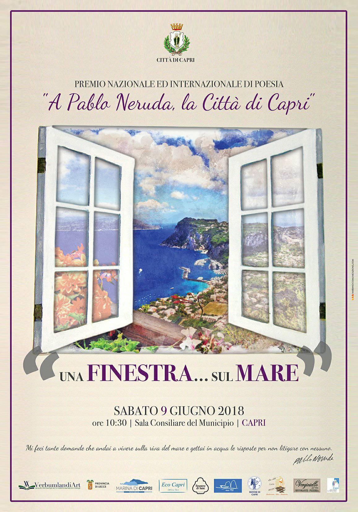 I Vincitori del Premio Internazionale di Poesia a Neruda…La Città di Capri I Edizione 2018