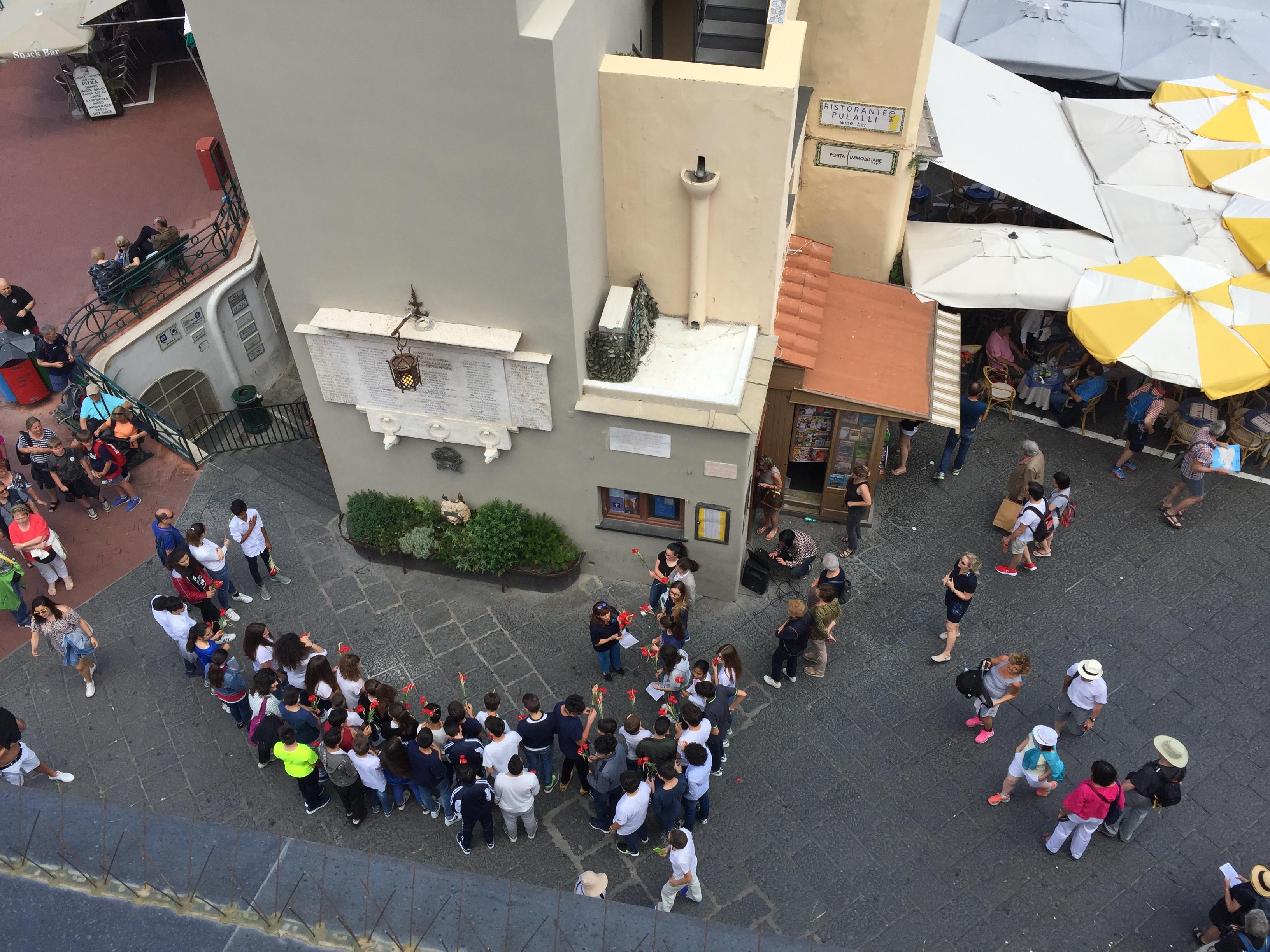 Capri. Il Centro Ignazio Cerio ricorda il Centenario della 1° Guerra Mondiale agli studenti della Scuola Secondaria Ippolito Nievo